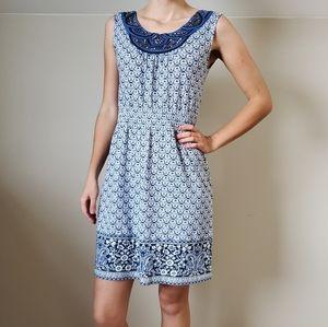 Charter Club Blue Paisley Summer Dress
